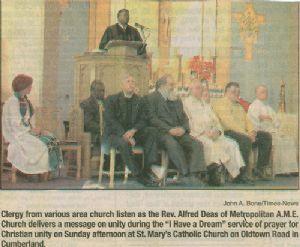 Ecumenical service seeks unity for one human kind