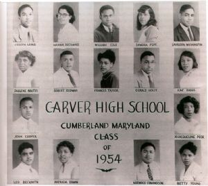 Carver High students 1954