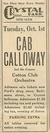 Davis Tourist Home - Cab Calloway