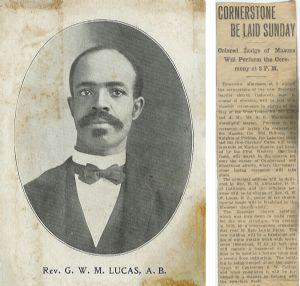 Rev. G.W.M. Lucas & Ebenezer Cornerstone Ceremony