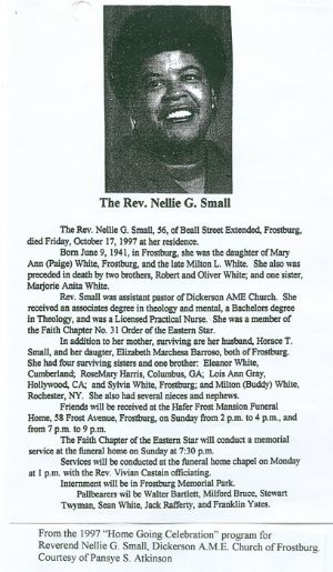 Rev. Nellie Small