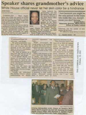 Angela Sailor -  Black history month speaker