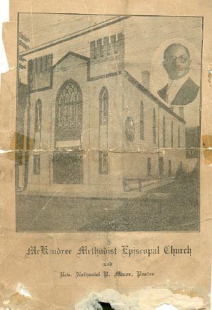 McKendree United Methodist Church 1928 anniversary