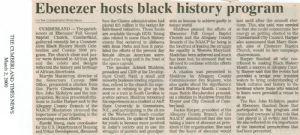Ebenezer hosts black history program