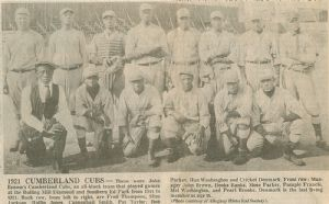 Cumberland Cubs baseball team