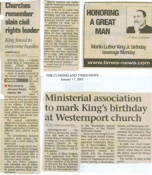 Keyser & Westernport MLK events, 2005