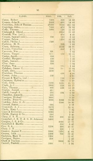 Taxes 1872 - African Americans