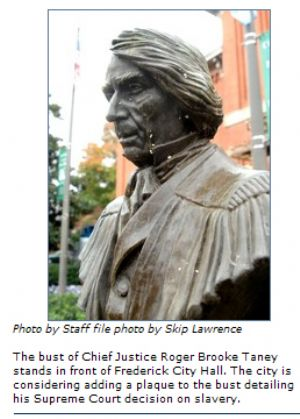Frederick County - Plaque would add context to Taney bust