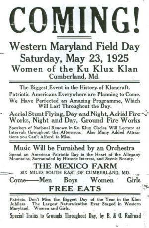 Klux Klan Field Day 1925