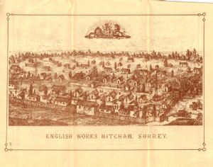 Illustration of fireworks factory in Surrey.