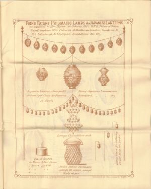 Advertisement in Catalog for Pain's Patent Prismatic Lamps and Japanese Lanterns
