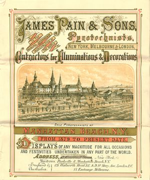 Advertisement for James Pain & Sons including locations of operation and brief explanation of products sold.