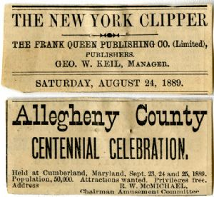 New York Clipper advertisement