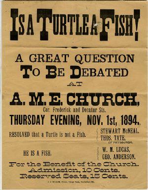 Debate poster - 1894,