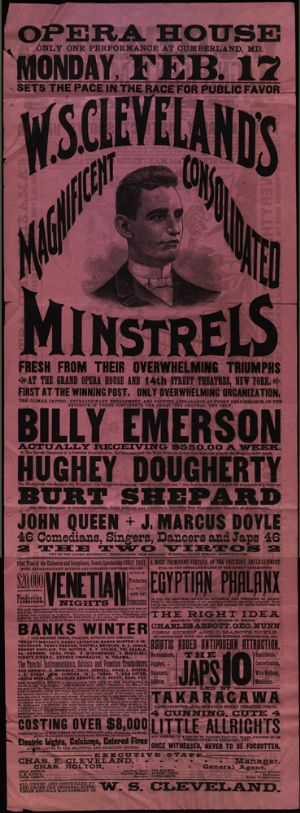 Poster for an event at the Opera House, Cumberland.