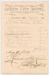 Allegany County, Maryland, Centennial Celebration, 1889 - Finances