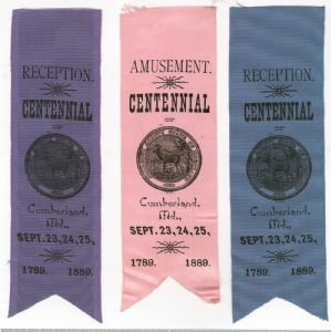 Allegany County, Maryland, Centennial Celebration, 1889