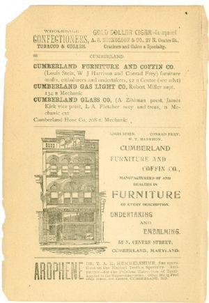 Allegany County Maryland, 1895, Cumberland, directory