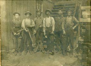 Miners at Jackson mine.