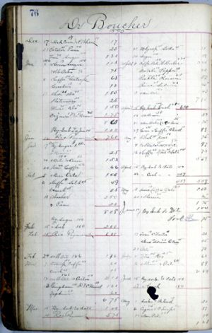 General store ledger - Dr Boucher