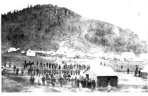 Civil War troops at Campabello