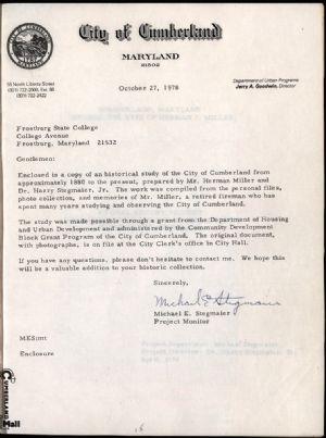Letter to FSU