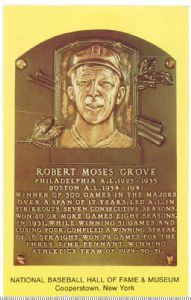Lefty Grove, Baseball Hall of Fame 1947