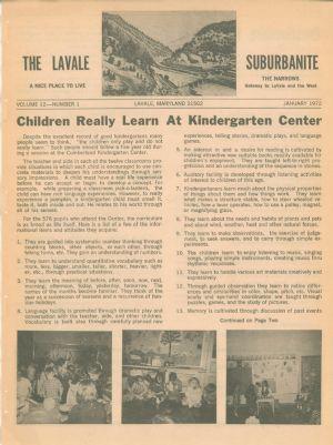 LaVale Suburbanite, January 1972