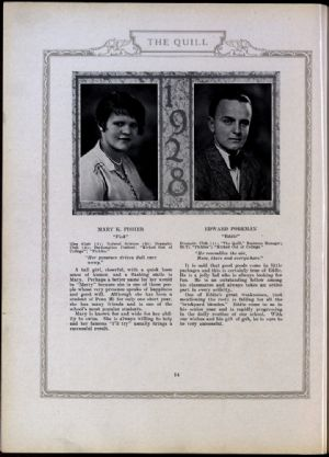 Mary Fisher and Edward Foreman