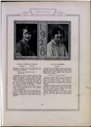 Wanda Gerard and Wilma Goodrich