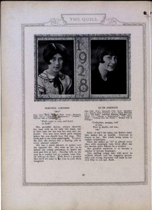 Dorothy Johnson and Ruth Johnson