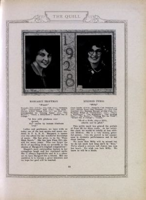 Margaret Troutman and Mildred Twigg