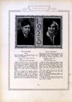 Roy Walburn and Alice Walmsley