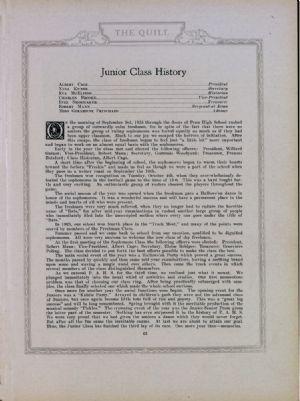 Junior class history