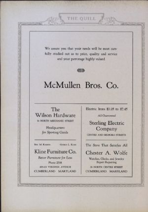 McMullen, Wilson Hardware, Kline Furniture, Sterling Electric Company, Chester A. Wolfe