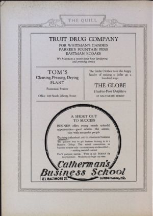 Truit Drug, Tom's, Globe Clothes, Catherman's.