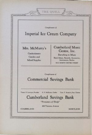 Imperial Ice Cream Company, Mrs McMurrays, Cumberland Music Center, Commercial Savings Bank