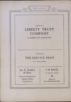 Liberty Trust Company, Service Press, Jas Brinker, I. H. Sacks.