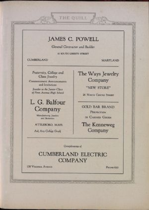 James Powell, Balfour Company, The Ways Jewelry, Kenneweg Company, Cumberland Electric Company.