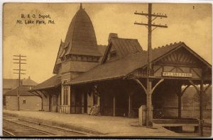 Mountain Lake Park, Maryland: B & O Depot. 