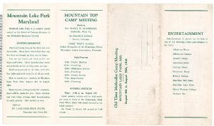Mountain Lake Park, Maryland: Mountain Top Camp Meeting