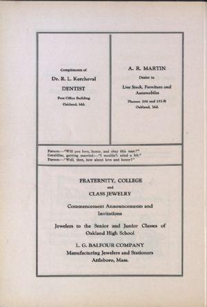 Dr. Kercheval, A. R. Martin, L. G. Balfour