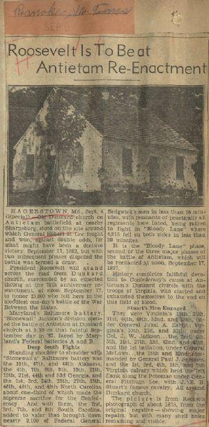 Roanoke Times. Virginia's troops at Antietam