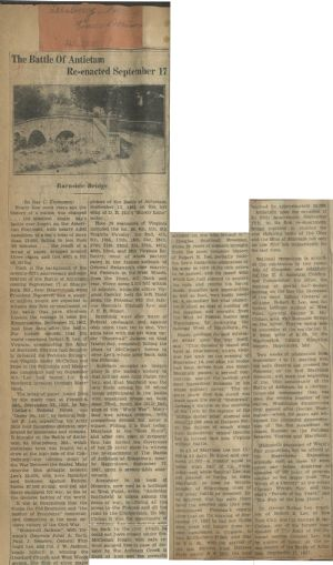 Overview of battle in Leesburg newspaper