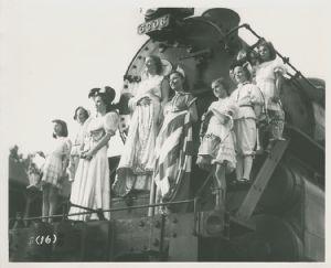 Miss Antietam aboard Engine 5306.