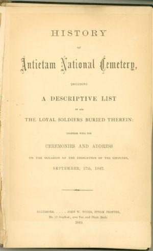 Antietam National Cemetery. Trustees