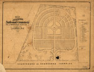 Map of Antietam National Cemetery, 1869.