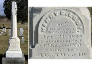 Union soldiers, died in Clarysville