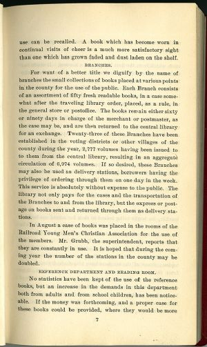 Washington County Free Library Annual report 1902 -1903