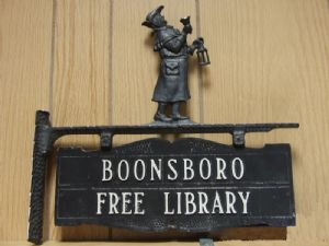 Boonsboro Free Library sign